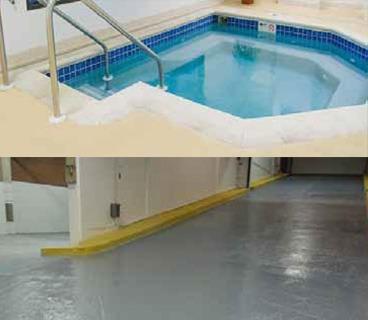 Flexstone Waterproof Coating - Hot-Tub Deck and Parkade