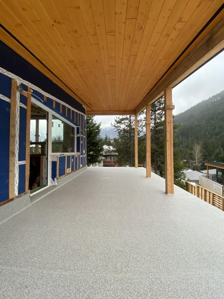 Wrap Around Deck with 11 Posts - Pemberton - 66 Grey Marble