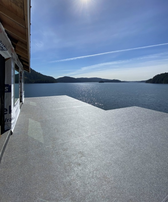 Vinyl Decking - 66-Mil Granite Rock Armor Deck - Large Deck - Indian Arm - North Vancouver